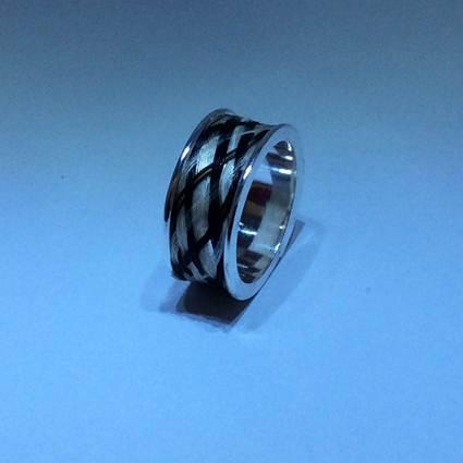 smykker med hestehår ring