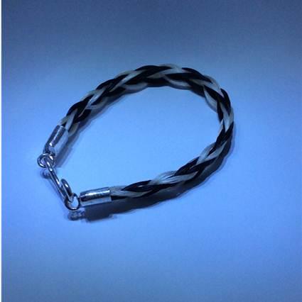 smykker med hestehår bredt armbånd