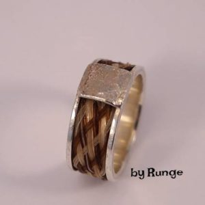 smykker af hestehår - bred ring