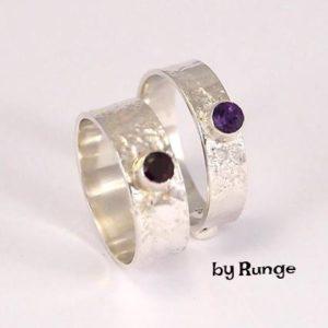 Amethyst på blonde- håndlavede smykker- by runge