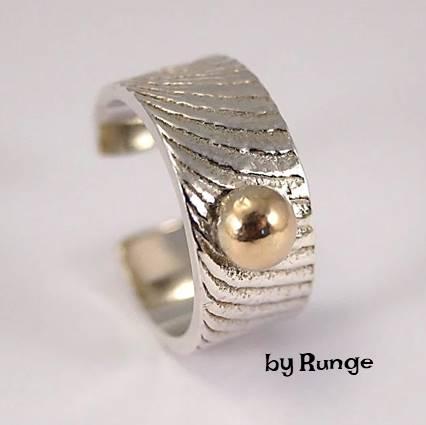 sepiaring med guldkugle - Ringe